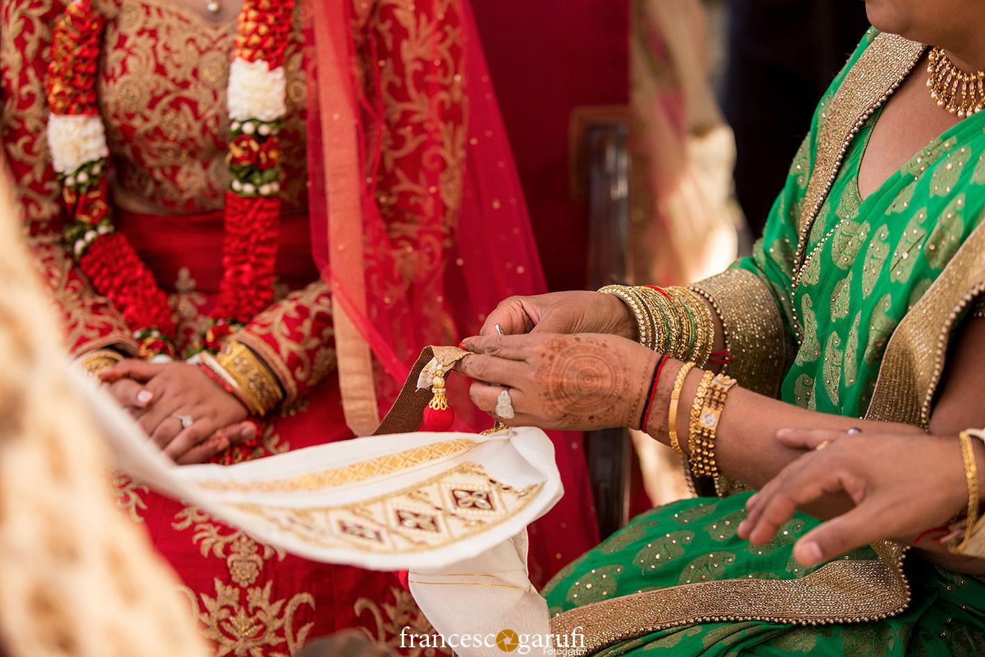 henna sari matrimonio hindu