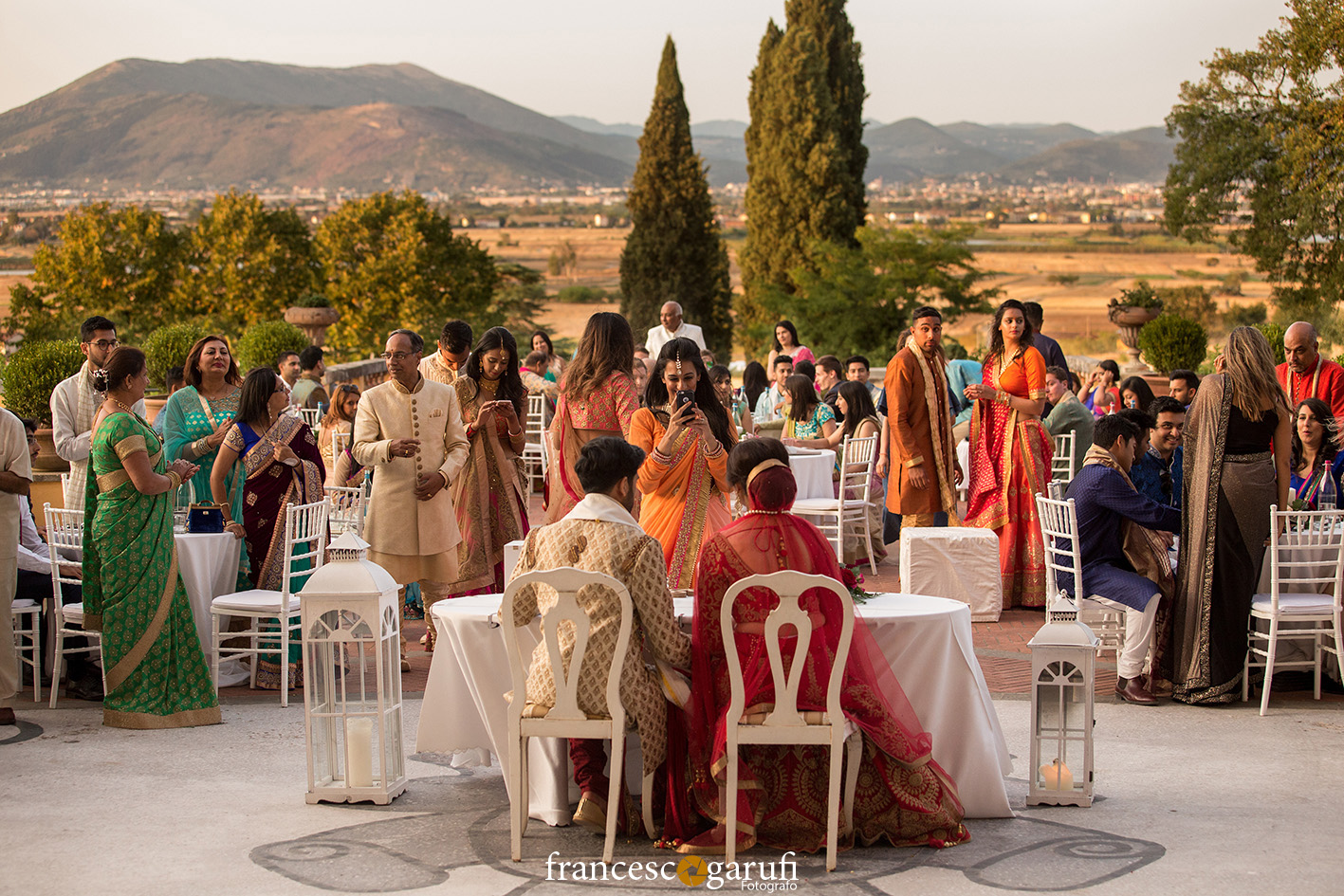 colorful dresses for an Hindu wedding in Italy