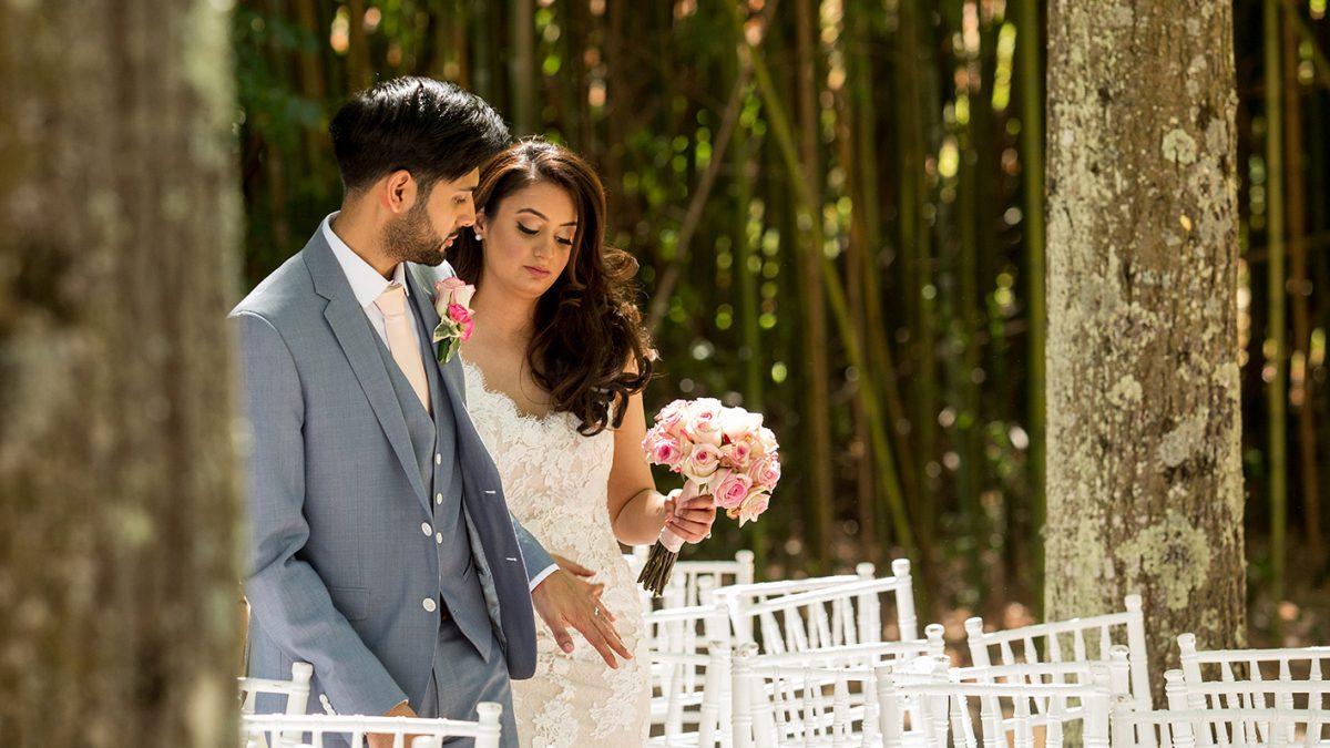 passeggiata romantica matrimonio indiano in Italia
