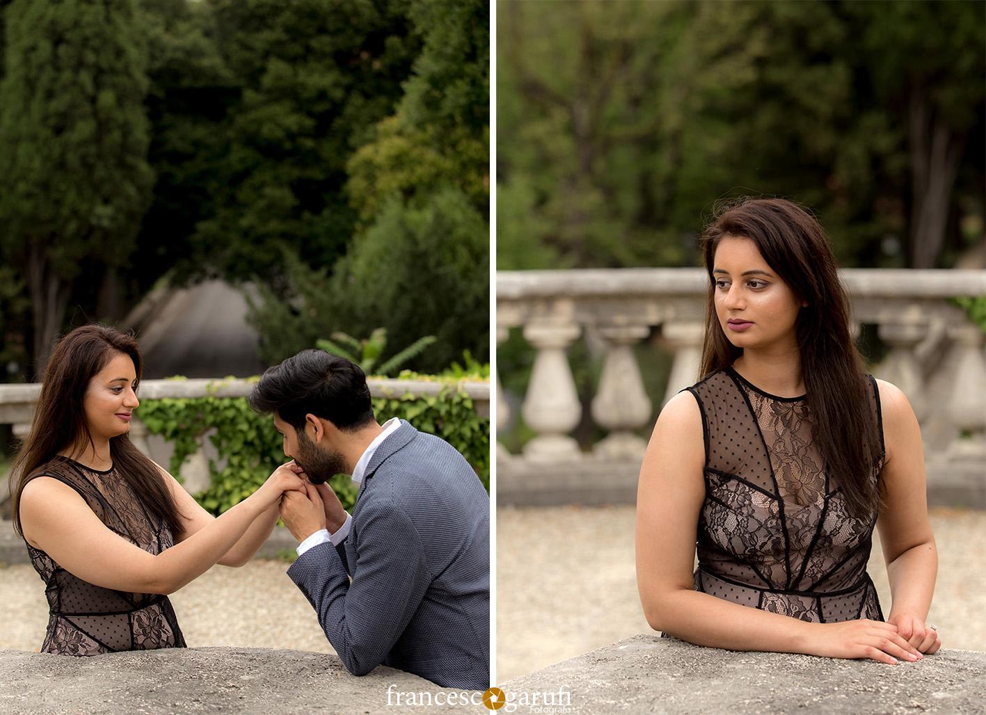 sposi indiani in una villa in Toscana