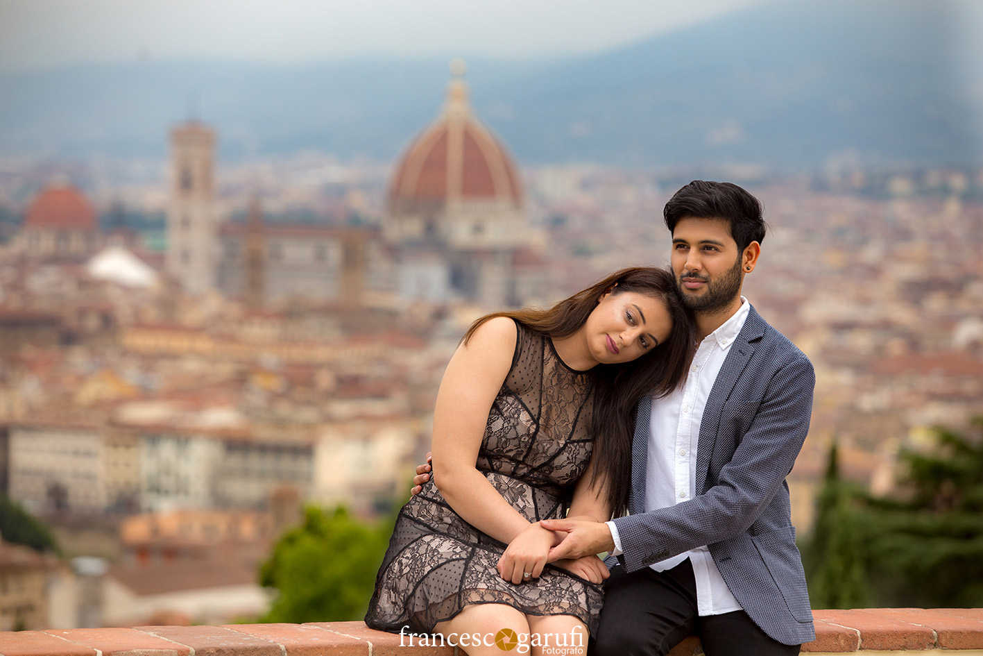 istantanea coppia indiana prematrimonio Firenze